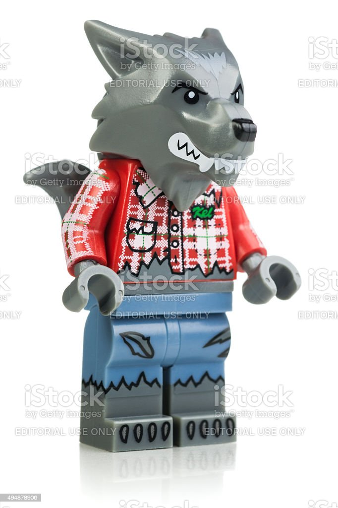 Wolf Guy Lego Minifigure stock photo