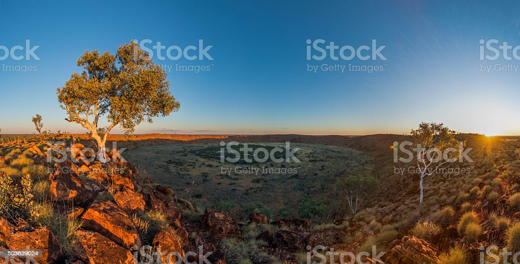 Wolfe Creek Crater, Western Australia stock photo