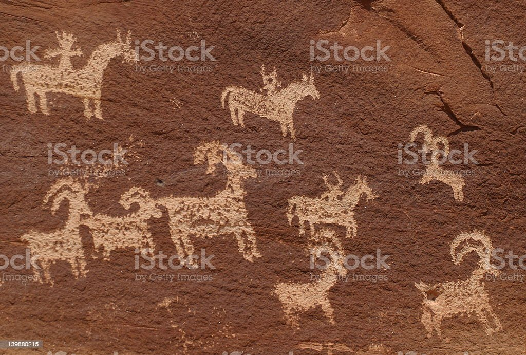 Wolfe Ranch Petroglyphs royalty-free stock photo