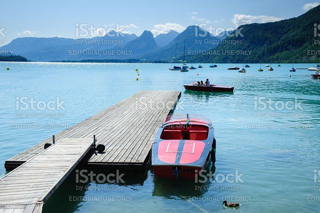 Wolfgang Lake stock photo