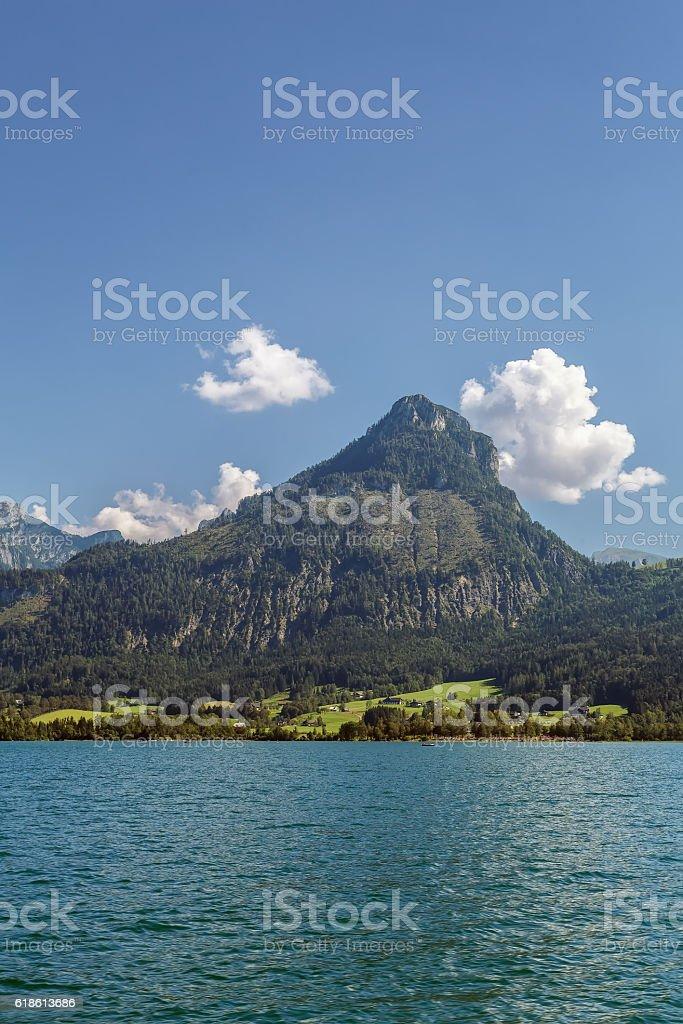 Wolfgangsee lake, Austria stock photo