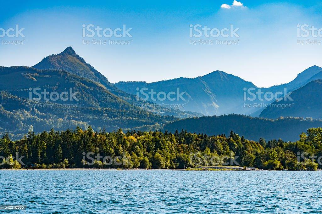 Wolfgangsee lake in autumn,Austria stock photo