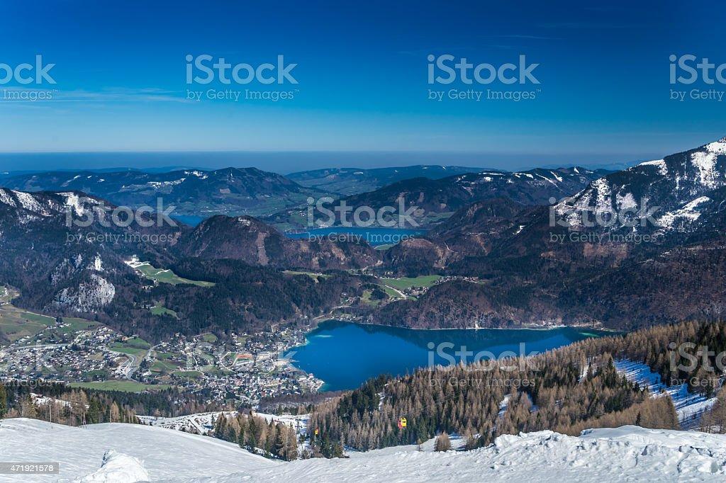 Wolfgangsee stock photo