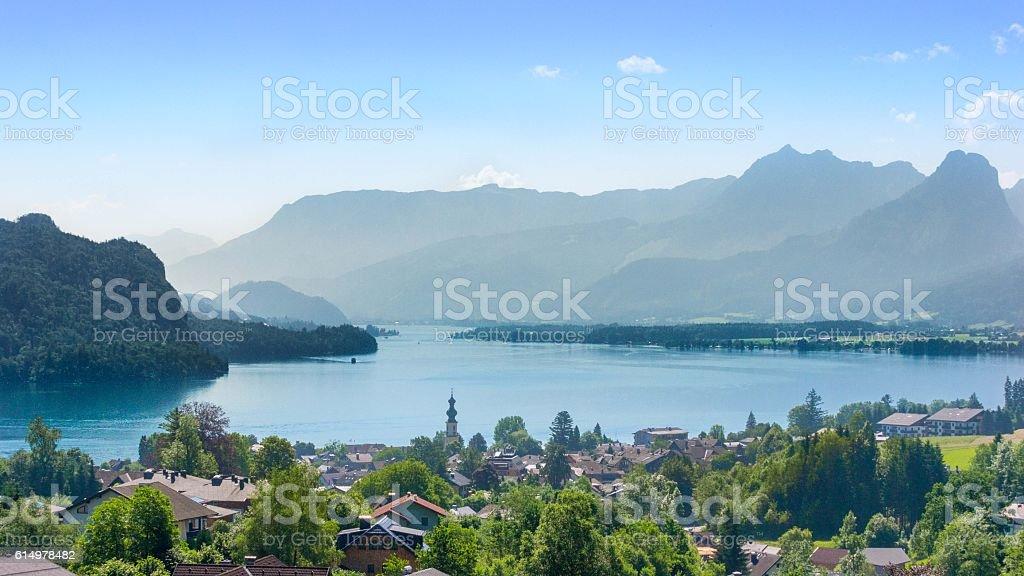 Wolfgangsee, Salzkammergut, Austria stock photo