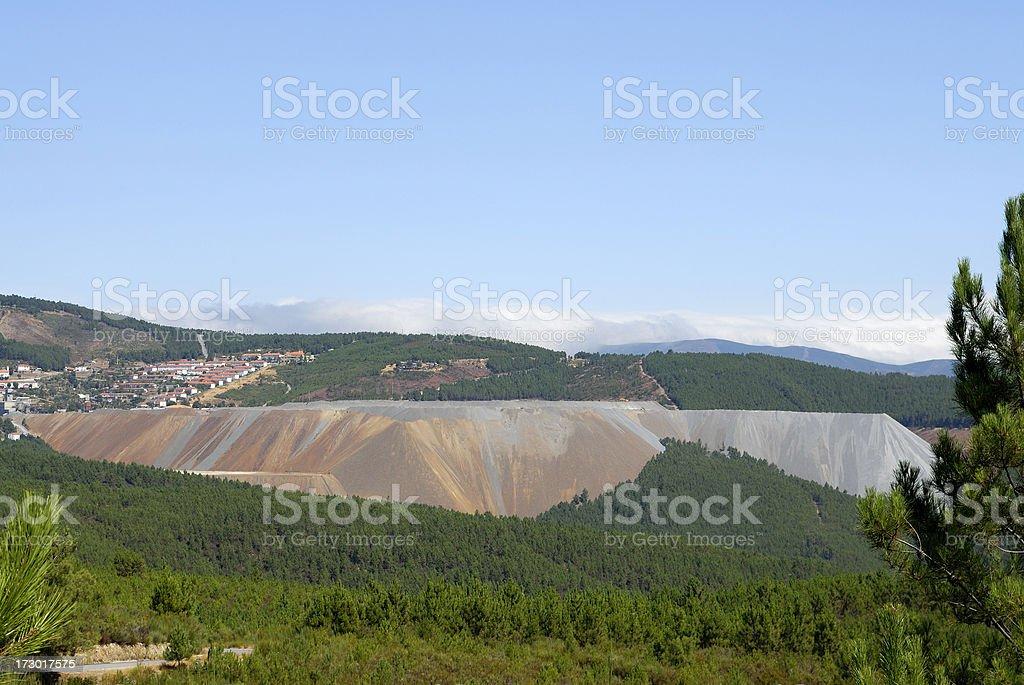 Wolfram mine royalty-free stock photo