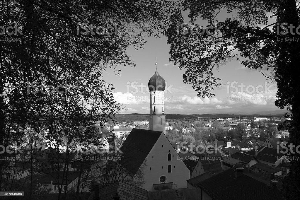 Wolfratshausen church stock photo