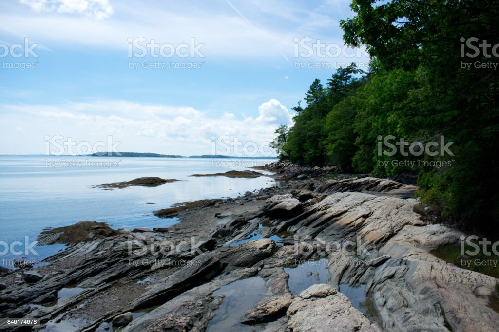Wolf's Neck State Park, Maine stock photo