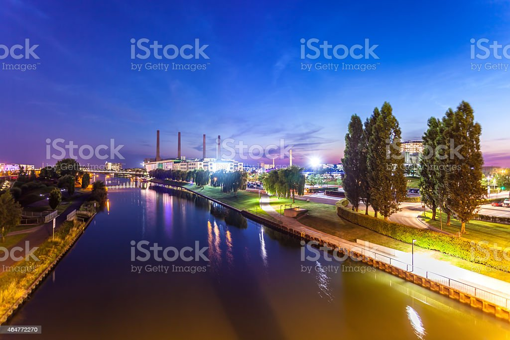Wolfsburg Skyline stock photo