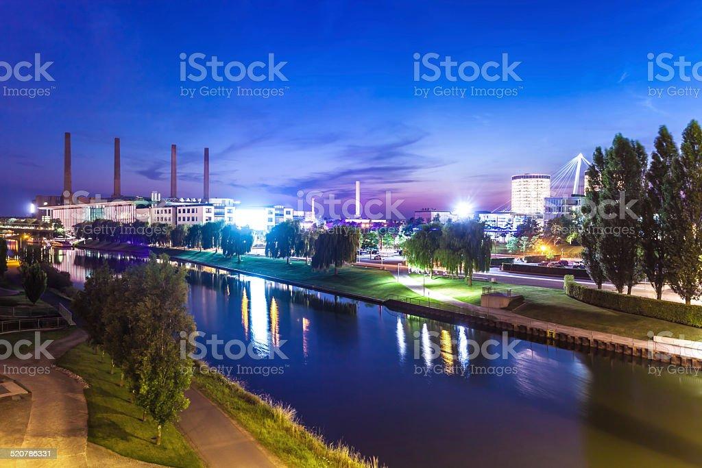 Wolfsburg Skyline stock photo