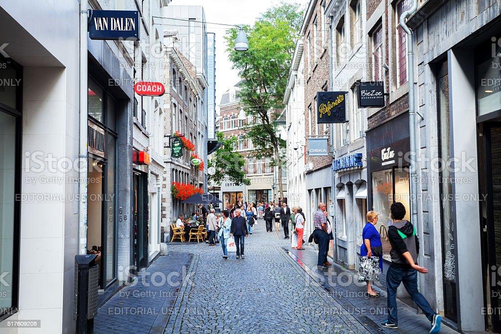 Wolfstraat In Maastricht stock photo