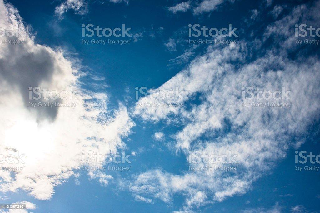 Wolken Cirrocumulus - kleine Sch?Šfchenwolken stock photo
