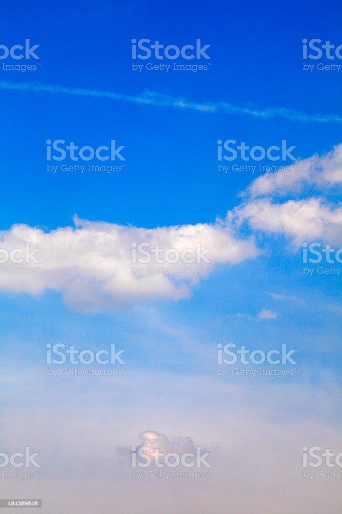 Wolkenformation aus einem Flugzeug stock photo
