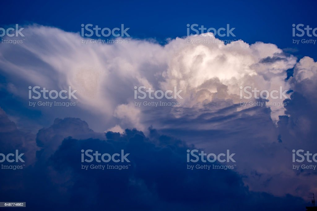 Wolkenformation stock photo