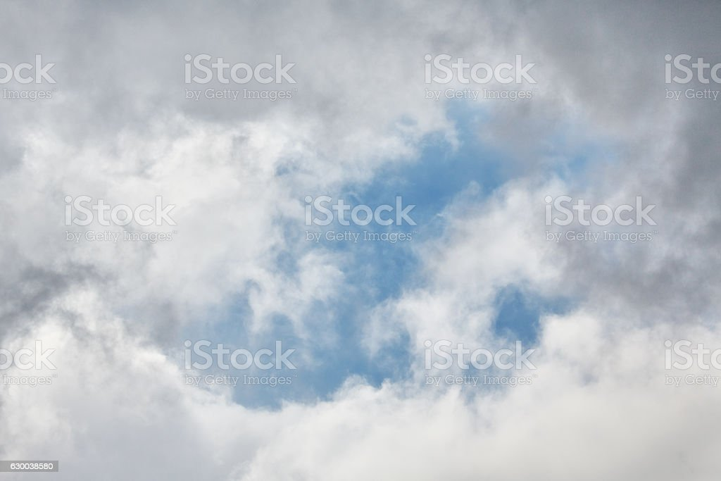 Wolkenlücke stock photo