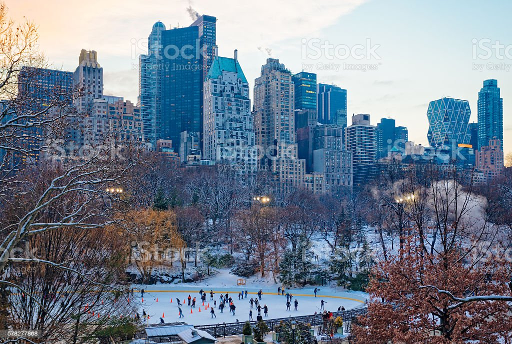 Wollman Skating Rink in Central Park, NYC stock photo