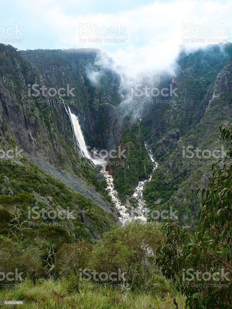 Wollomombi Falls Chandler Falls, New England, NSW, Australia. stock photo
