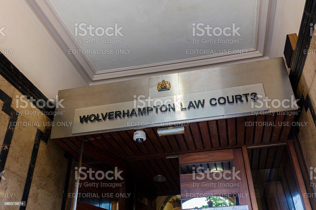 Wolverhampton Law Courts stock photo