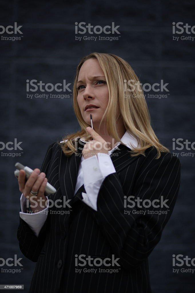 PDA Woman 01 stock photo