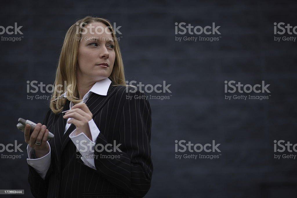 PDA Woman 04 stock photo