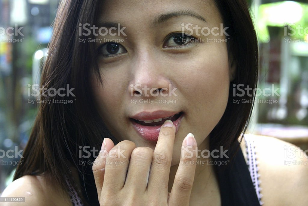 YOUNG ASIAN woman 2 royalty-free stock photo