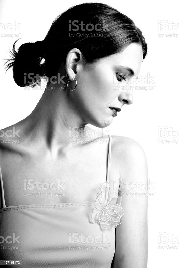 Woman About To Cry royalty-free stock photo