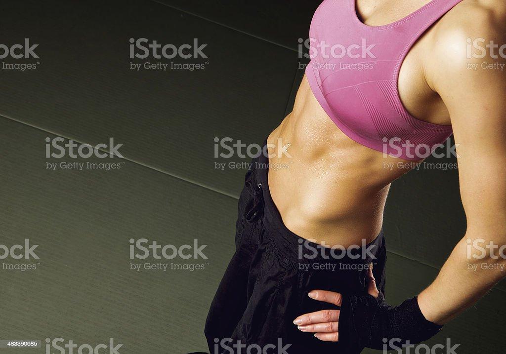 Woman Abs stock photo