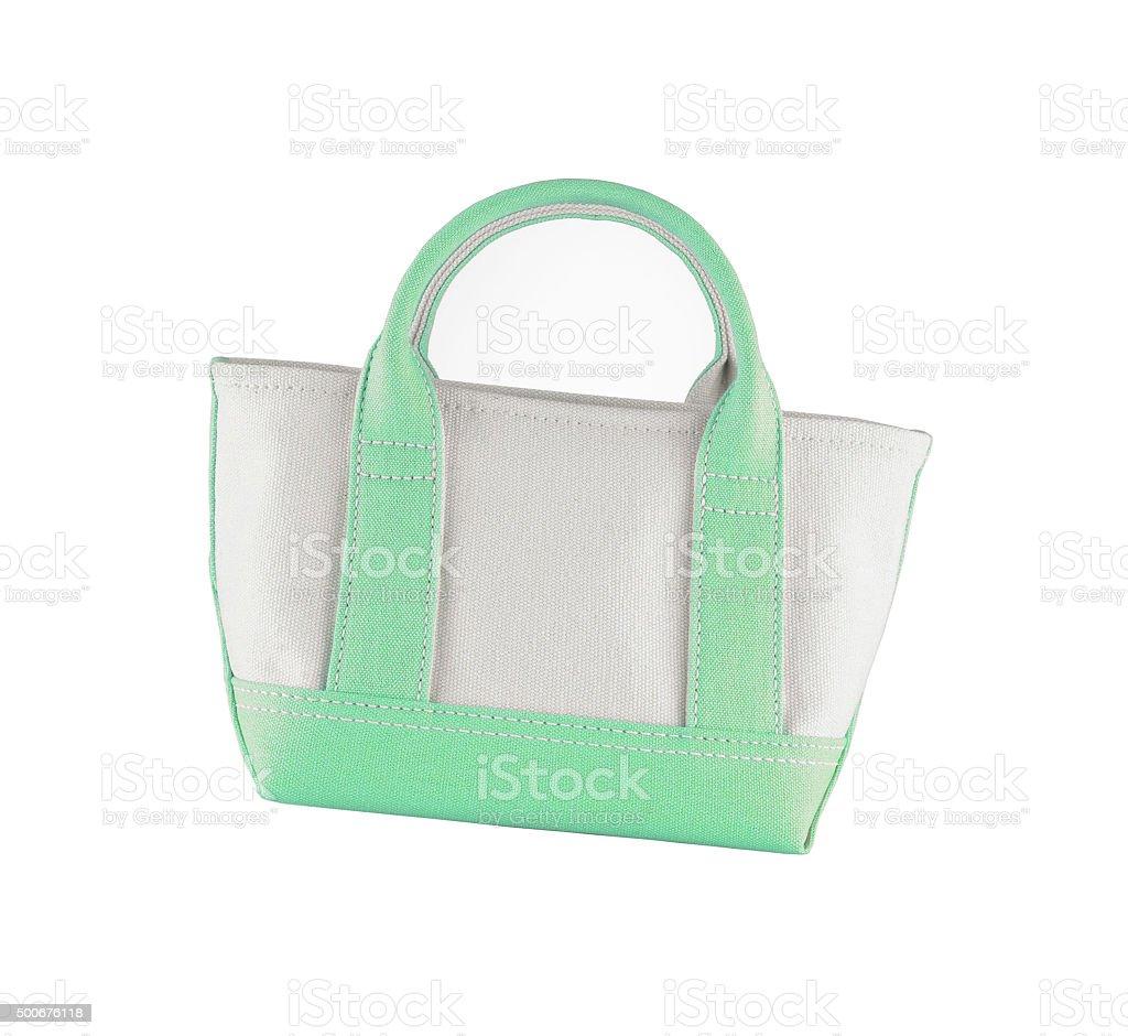 Woman accessory - stylish bag on white stock photo