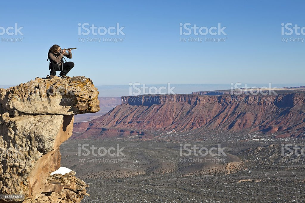 Woman Adventurer royalty-free stock photo