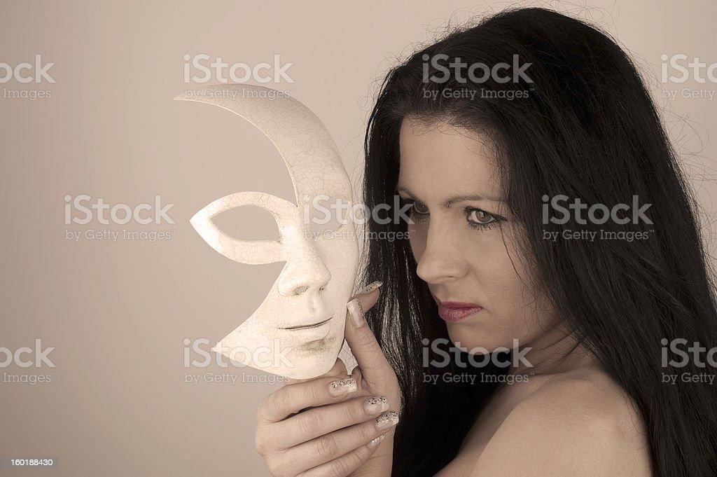Woman & Mask royalty-free stock photo