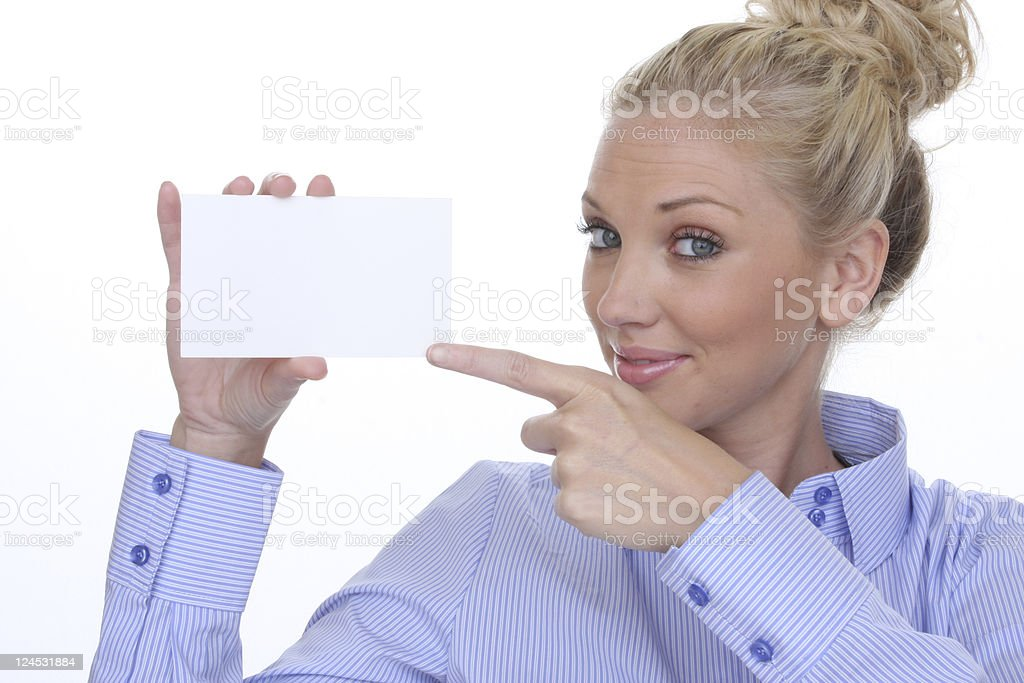 woman an index card royalty-free stock photo