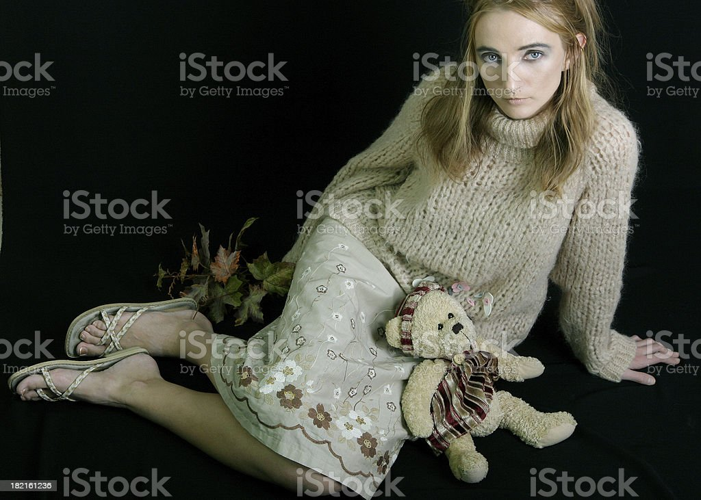 woman and autum royalty-free stock photo
