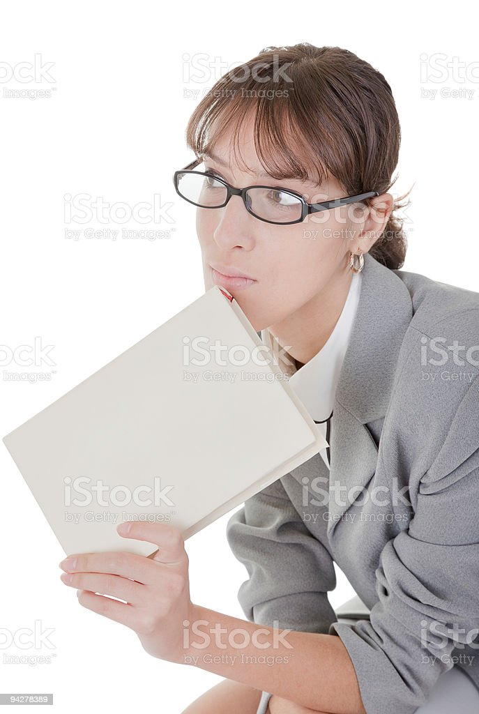 woman and book royalty-free stock photo
