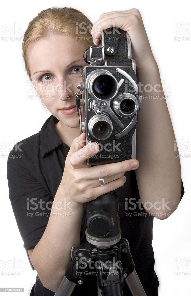 Woman and Camera stock photo