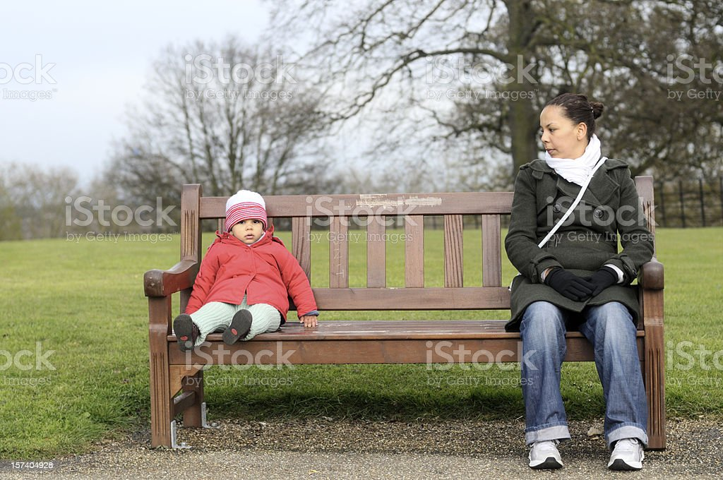 Woman and child royalty-free stock photo