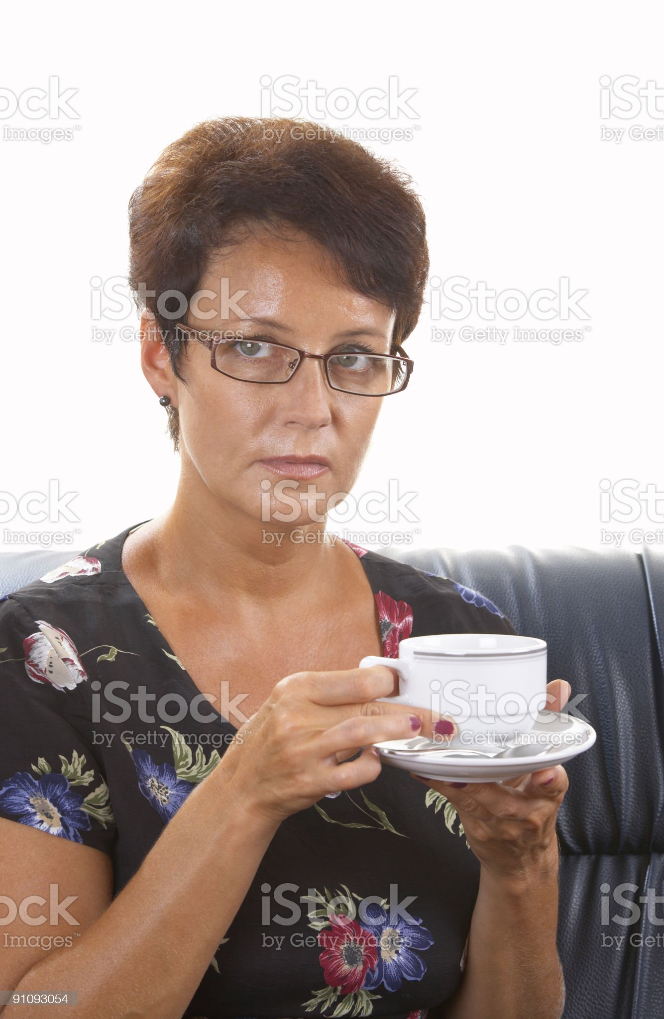 woman and coffee royalty-free stock photo