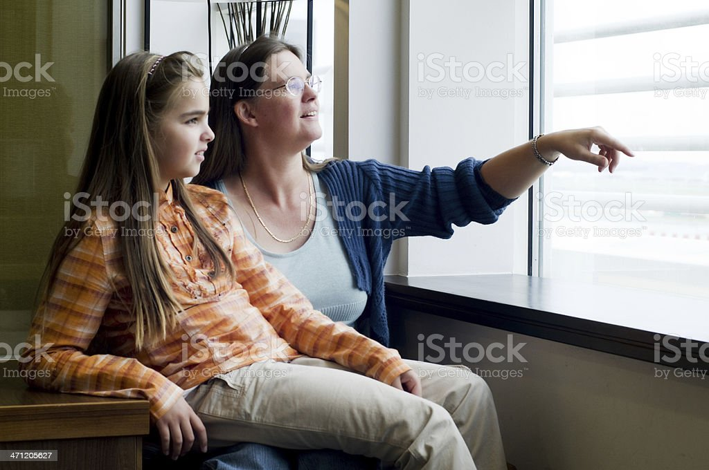 Woman and daughter royalty-free stock photo