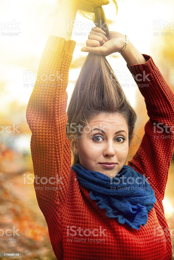 woman and hair royalty-free stock photo