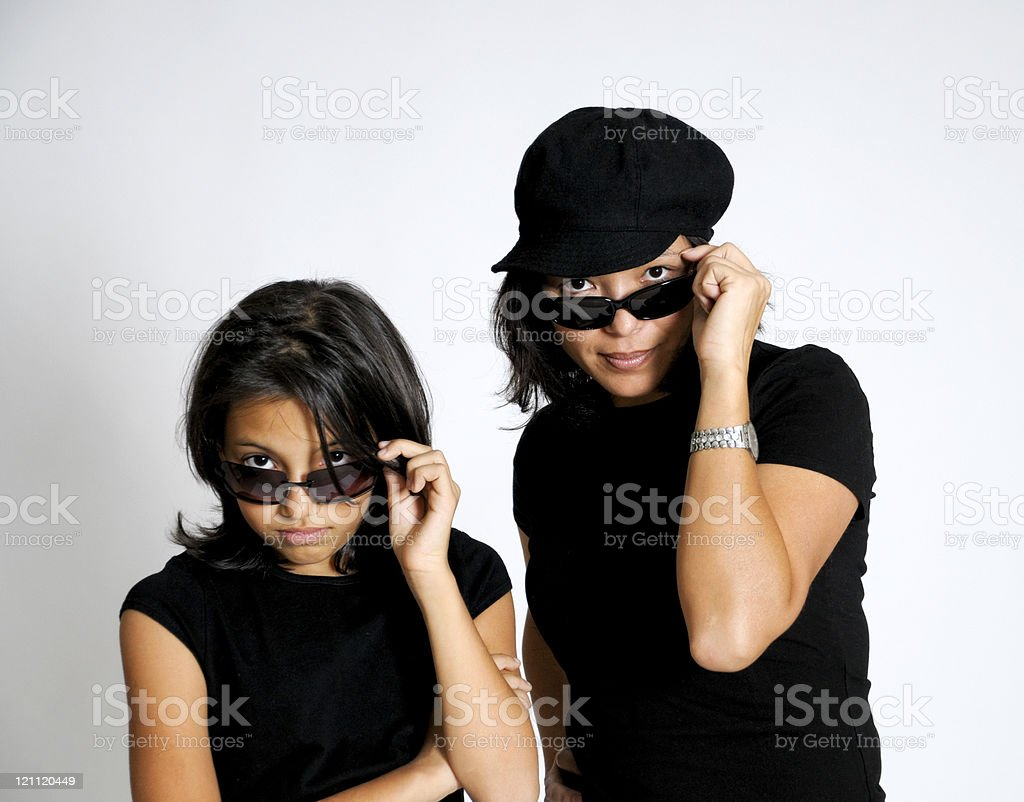 Woman and Her Daughter With Duel Attitudes royalty-free stock photo