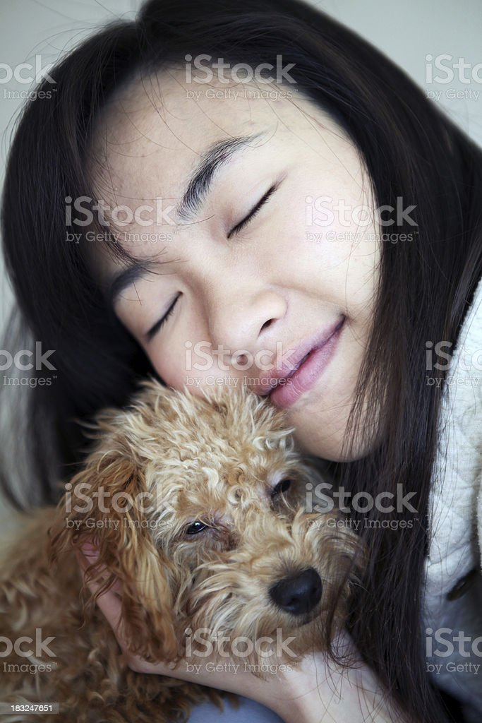 Woman and Her Dog - XXXLarge royalty-free stock photo