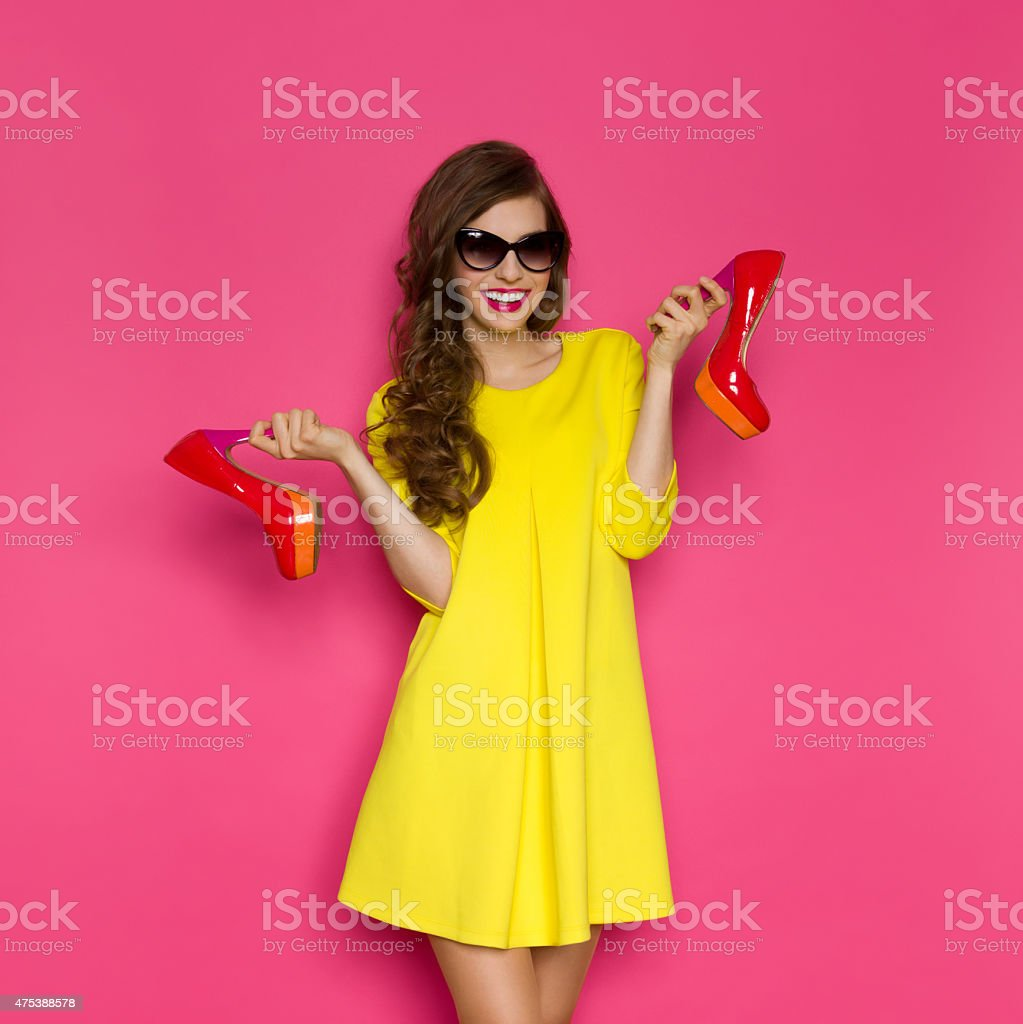 Woman And High Heels stock photo