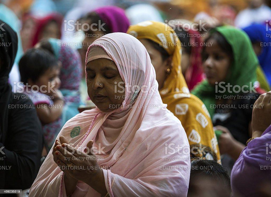 Woman and Islam stock photo