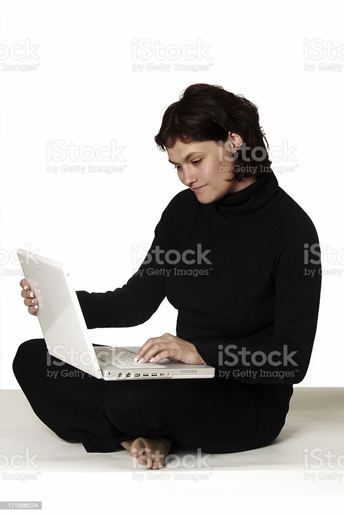 Woman and Laptop 02 royalty-free stock photo
