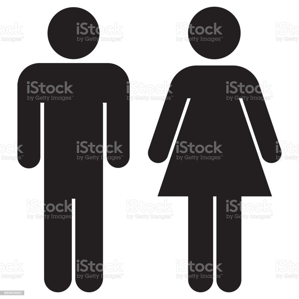 Woman and man icons stock photo