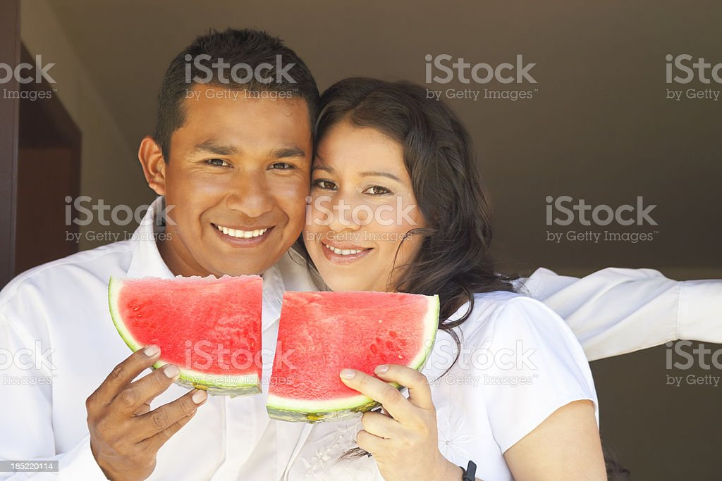 Woman and Man Make One royalty-free stock photo
