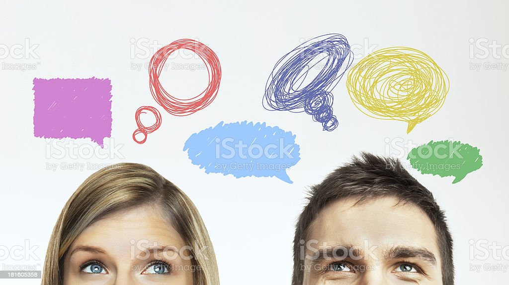 woman and man royalty-free stock photo