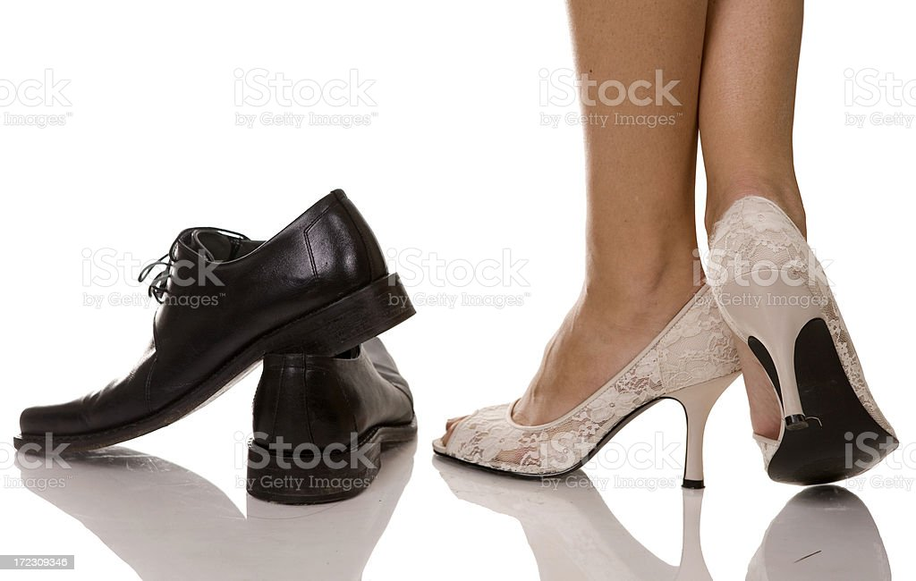 woman and man shoes royalty-free stock photo