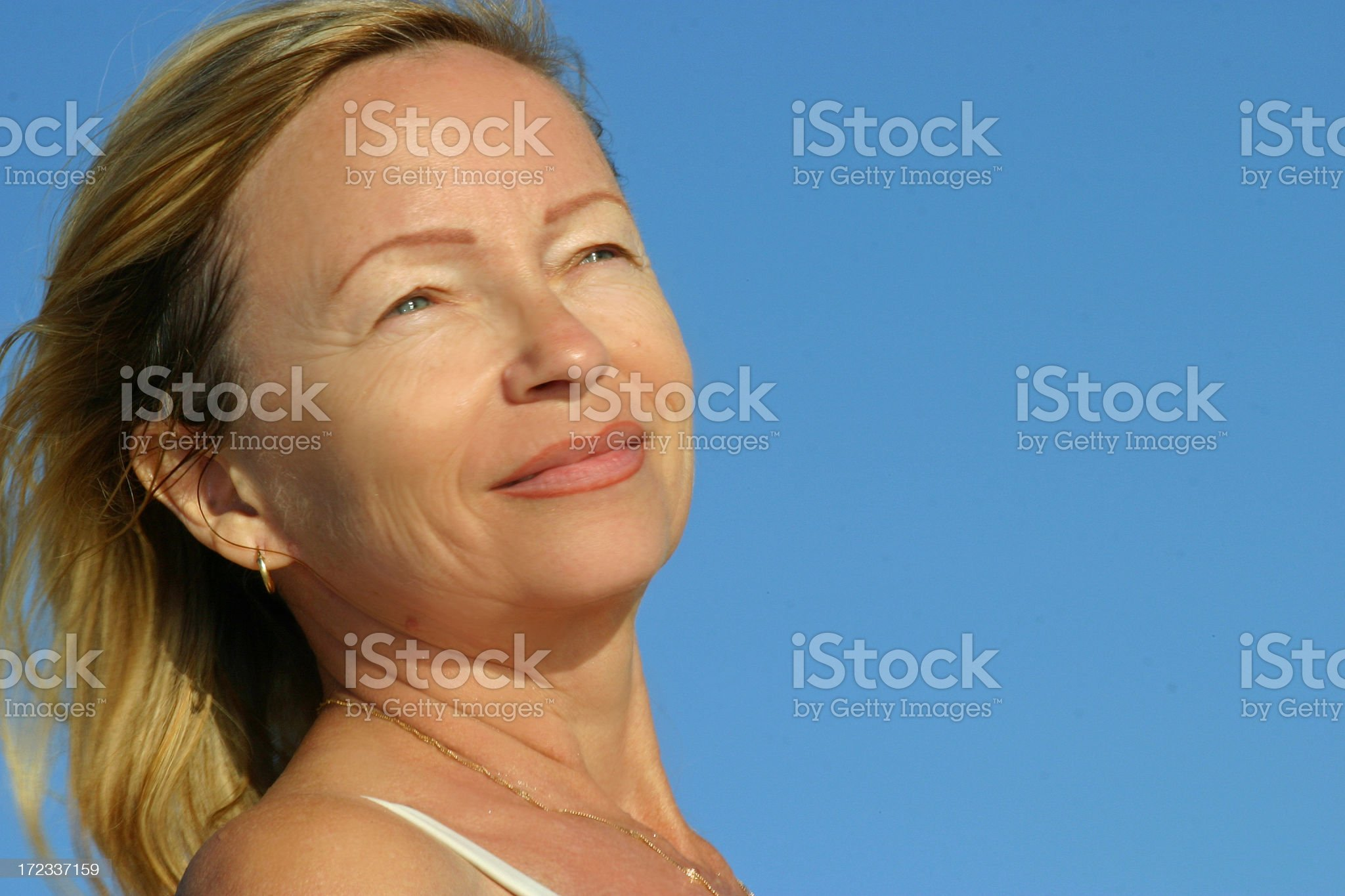 Woman and nature royalty-free stock photo