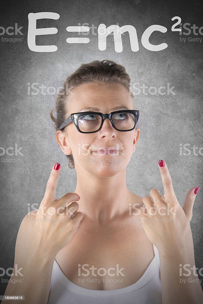 woman and number royalty-free stock photo