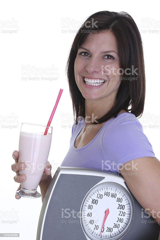 woman and shake royalty-free stock photo