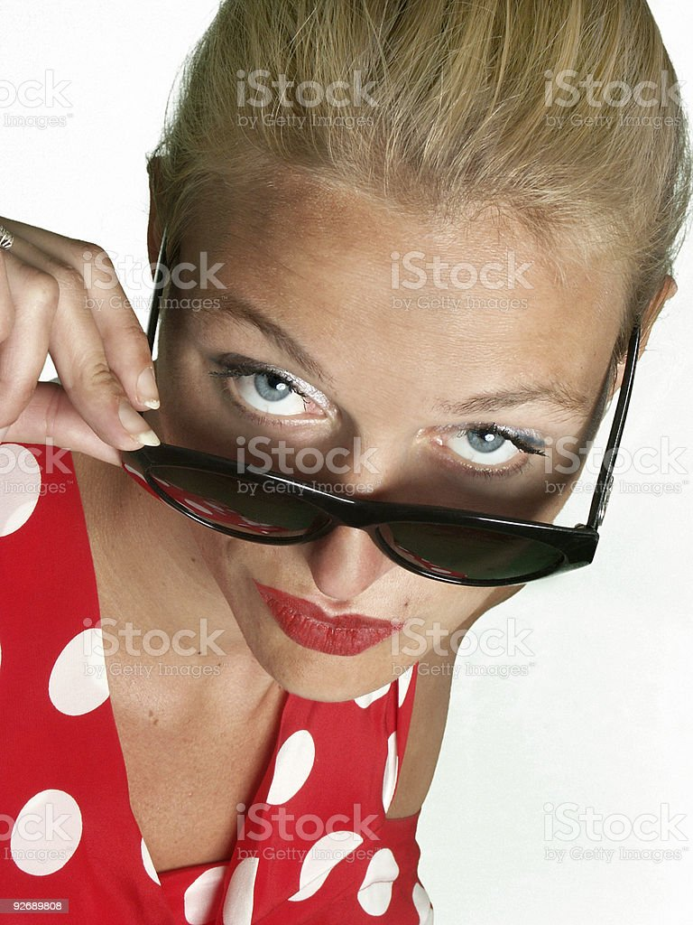 Woman and Sunglasses royalty-free stock photo
